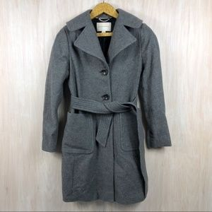 Banana Republic Gray Wool Blend Lined Trench Coat